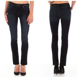 Fidelity Stevie mid rise slim straight dark jeans